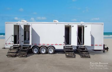 13 Station  Portable Restroom Trailer | Classic Series - Exterior