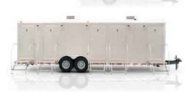 5 Station Shower Trailer Rental Portable Restroom Combo | Comfort Series