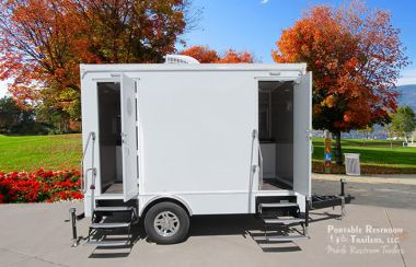 2 Station Portable Restrooms For Rent | Calypso Series