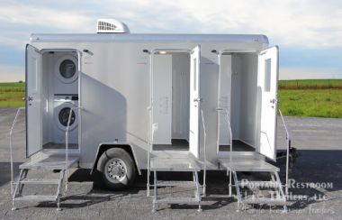 2 Station Combo Shower / Laundry / Restroom Trailer | Comfort Series - Exterior