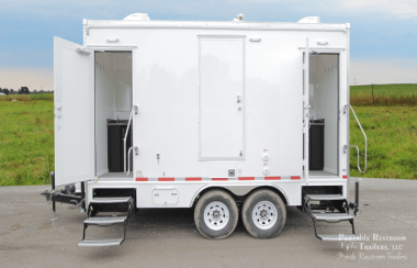 4 Station Shower Trailer with Sinks | Classic Series - Exterior