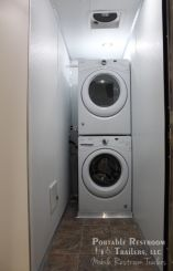 3 Station Shower Trailer / Restroom Combo with Laundry Suite | Oahu Series - Laundry Room