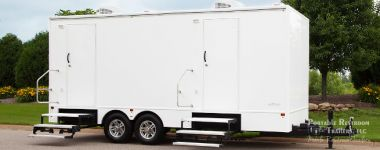 Satellite 6 Station Portable Restroom Trailer | Grand Mariner Series - Exterior