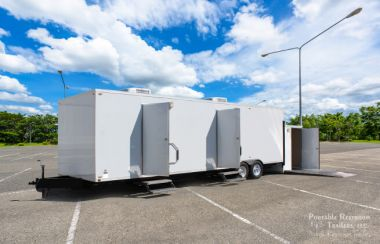 ADA + 9 Station ADA Portable Restrooms Trailer | Oahu Series – Female Gender Specific - Exterior