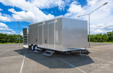 ADA Restroom Trailer + 6 Station All Female | Oahu Series - Exterior