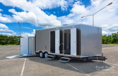 ADA Restroom Trailer + 6 Station All Male | Oahu Series - Exterior