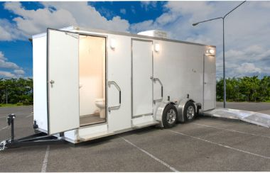 ADA Portable Restrooms Trailer + 4 Station | Oahu Series - Exterior