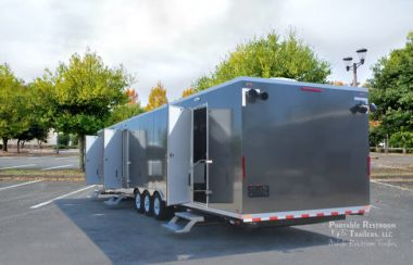 5 Station Shower Trailer Portable Restroom Combo with Laundry   Oahu Series - Exterior