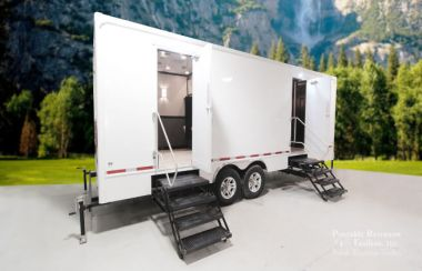 10 Station Portable Restrooms Trailer | Luxury Series - Exterior