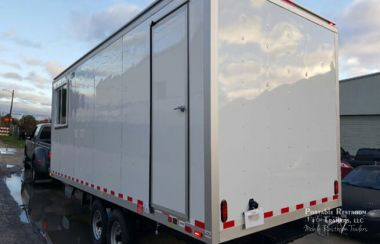 Private Suite Portable Restroom Trailer Breakroom Combo - Exterior