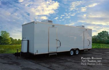 8 Station Portable Shower Trailer For Rent | exterior