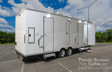 6 Station Shower Trailer with Laundry Room | Oahu Series - Exterior