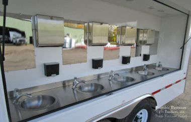 12 Station Handwash Trailer - Electric Hot Water Heater | Classic Series
