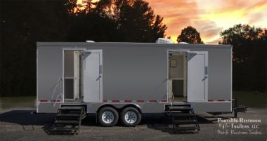 10 Station Portable Restrooms Trailer | Coastal Series