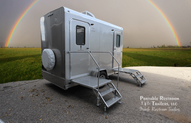 2 Station Portable Shower Trailer with Sinks   Comfort Series - Exterior