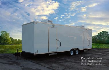 12 Station Portable Restrooms Trailer | Oahu Series - Exterior