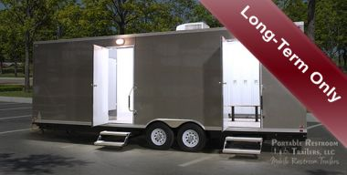 8 Station Shower Trailer Portable Restroom Locker Combo Rental | Oahu Series - Exterior