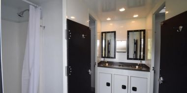 8 Station Shower Trailer Restroom Combo | Classic Series - Interior