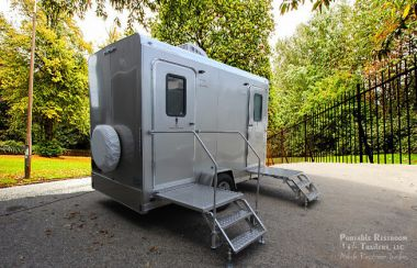 Single Station Combo Restroom Trailer with Laundry Suite | Comfort Series - Exterior