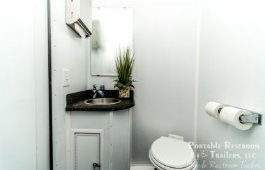 4 Stall Shower Trailer Portable Restrooms Combo | Classic Series - Interior
