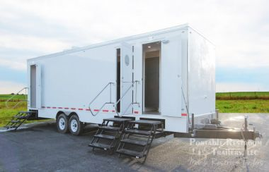 11 Station Bathroom Trailer for Rent Station | Classic Series - Exterior