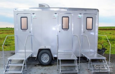 3 Station Shower Trailer Restroom Rentals
