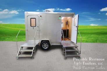 2 Station Shower Trailer Portable Restrooms Combo | Cabo Series - Exterior