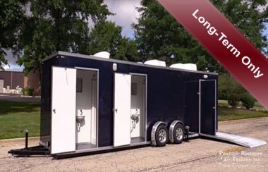 ADA Shower Trailer Rental +4 Station - Meets CA Stds - Exterior