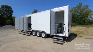 3 Station Shower Trailer / Restroom Combo with Laundry Suite | Oahu Series