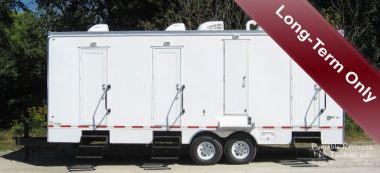 6 Suite Shower Trailer / Restroom Rental Combo - Exterior