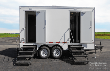 6 Station Portable Restroom Trailer | Classic Series - Gender Specific - Exterior