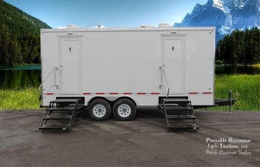 7 Station Portable Restrooms Trailer | Classic Series - Exterior