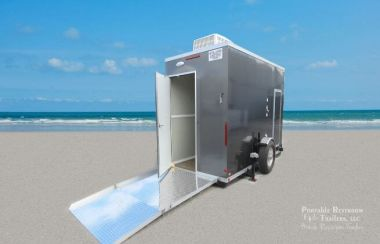Single ADA Restroom Trailer | Oahu Series - Exterior