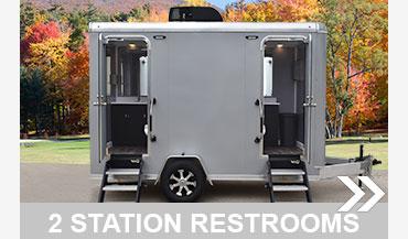 All Aluminum 2 Station Restroom Trailer