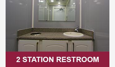 2 Station Mobile Restroom Trailers for Sale