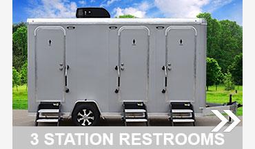 All Aluminum 3 Station Restroom Trailer