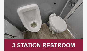 3 Station Mobile Restroom Trailers for Sale