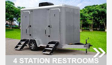 All Aluminum 4 Station Restroom Trailer