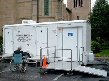 portable restroom trailers ada compliant