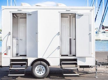 restroom trailer for Duke Energy