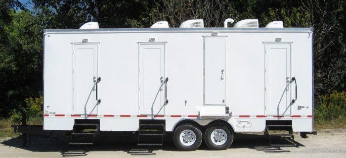 6 station restroom trailer rentals